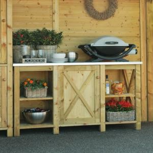 meuble cuisine exterieur bois